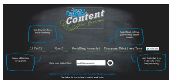 get blog content ideas using portent