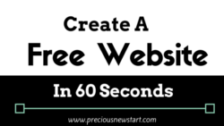 create a free website in 60 seconds