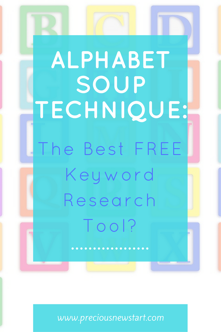 alphabet soup technique: the best keyword research tool
