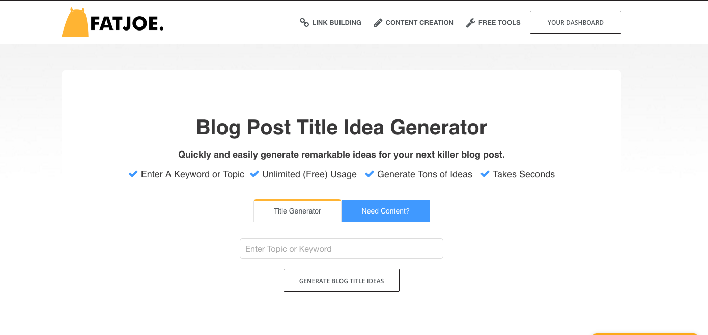 fat joe free blog content generator